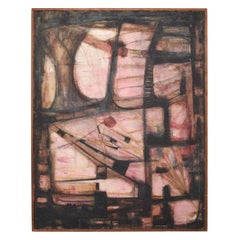Oil on Canvas by Miguel Alvarez Acosta INBA Director, Mexican Modernist Abstract