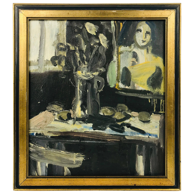 Oil on Canvas by Vernon Lobb Am, Listed 20th Century Still Life