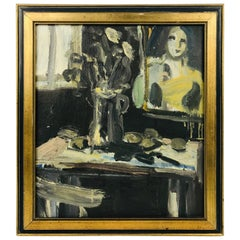 Oil on Canvas by Vernon Lobb Am, Listed 20th Century Still Life
