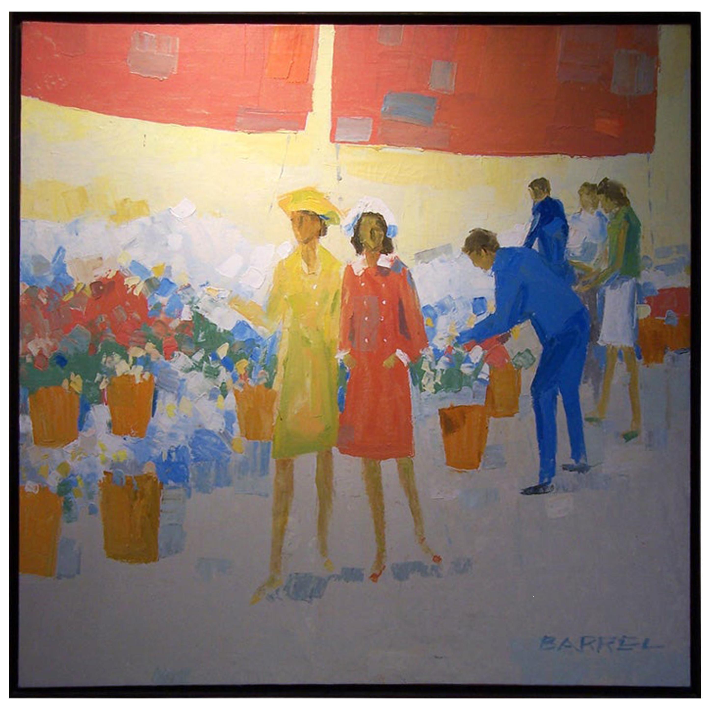 Oil on Canvas by W.R. Barrel 'Listed American Artist'