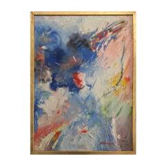 YVONNE GUÉGAN Abstract Oil on Canvas, 1950s