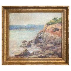 Oil on Canvas Coastal Landscape Painting