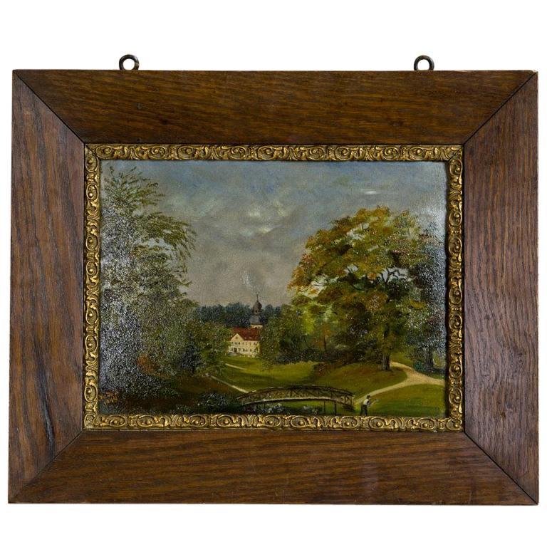 Oil on Canvas Depicting a Landscape, circa 1894