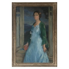 Oil on Canvas E. Kenneth Center Portrait of a Lady