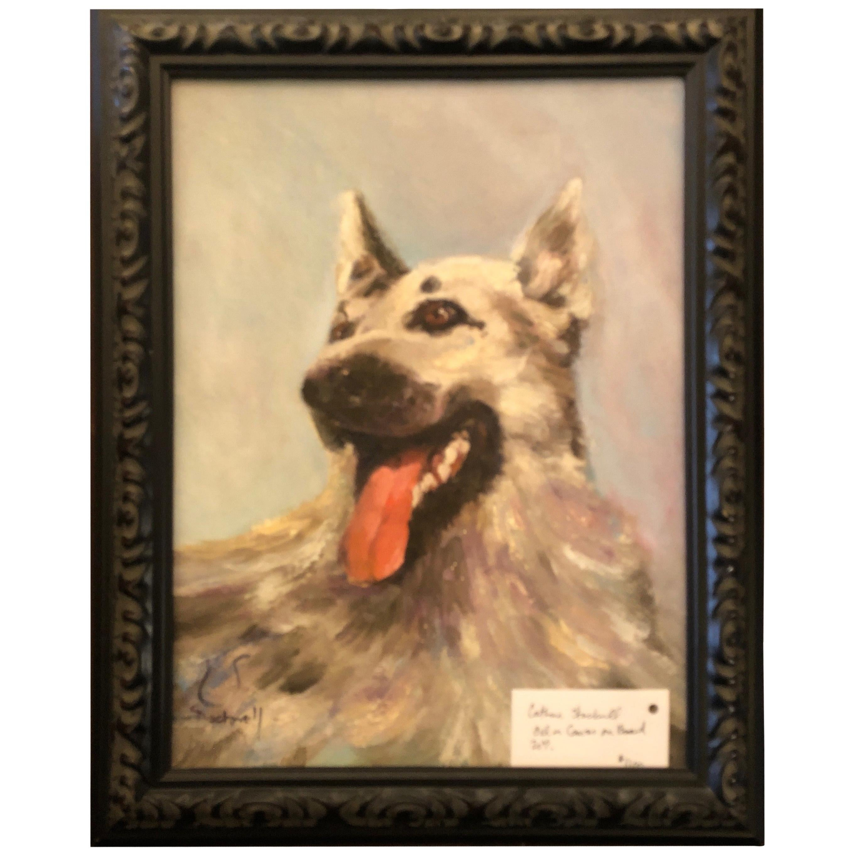 Oil on Canvas German Sheppard
