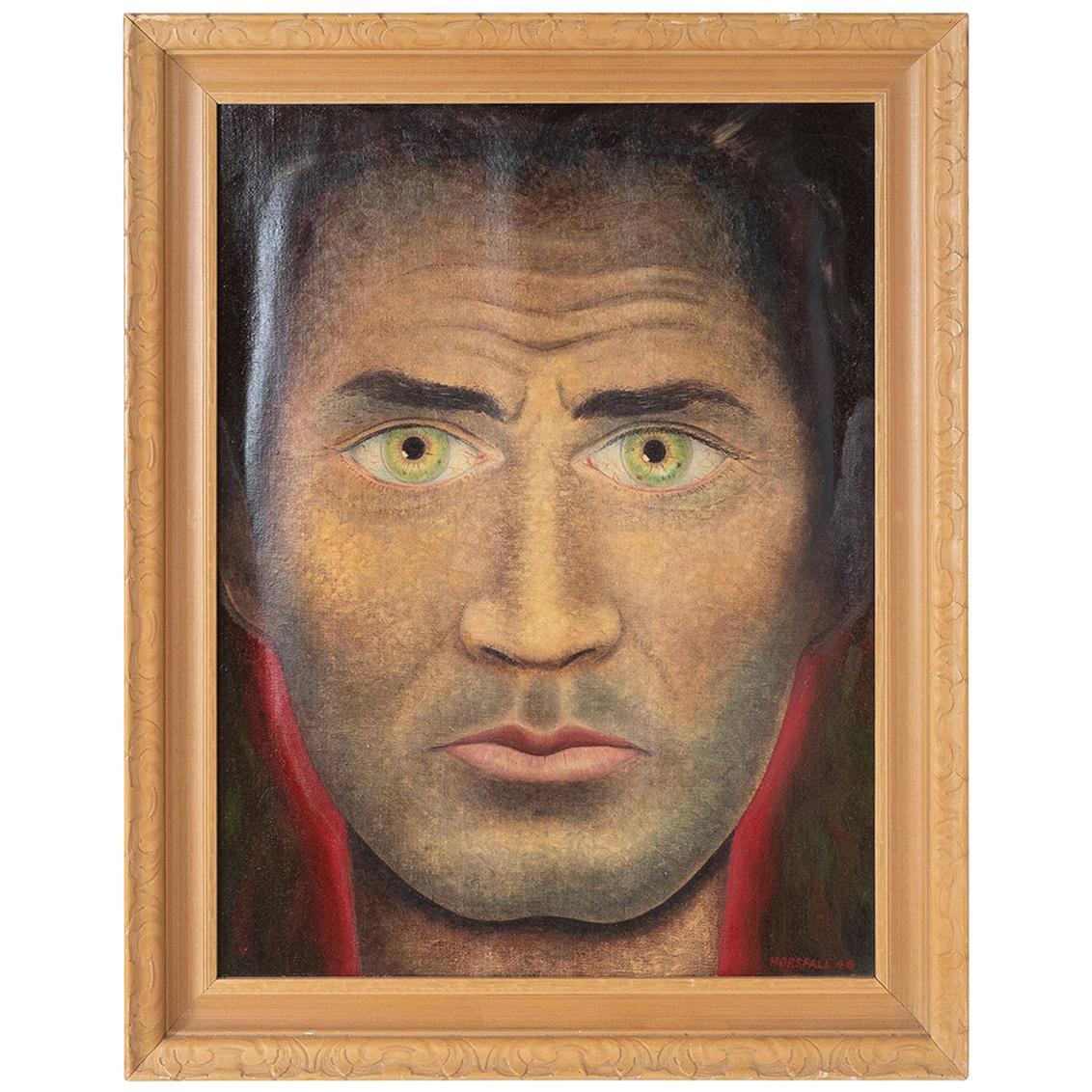 "Oil on Canvas ""Green Eyes"""