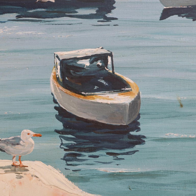 Oil-on-canvas painting nautical maritime