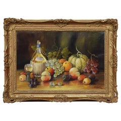 Oil on Canvas Hilda Frances Borton Framed Still Life