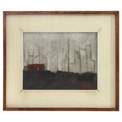 Oil on Canvas 'Il Palo' by Gianni Castagneto, 1959