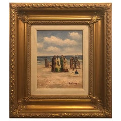 Oil on Canvas Impressionistic Painting, Signed