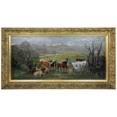 "Oil on Canvas ""In The Countryside"" Signed by Carl Schild, Austria, Dated 1899"