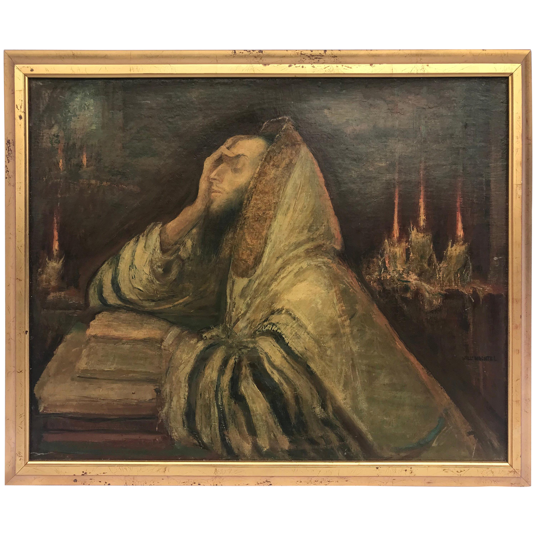 "Oil on Canvas ""Kol Nidre"" Theme by Wilhelm Wachtel"