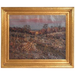 Oil on Canvas Landscape by Henry Charles Payne IL, MA
