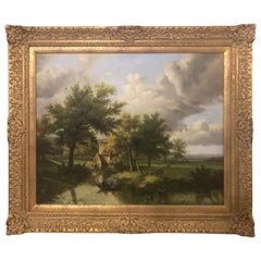 Oil on Canvas Landscape Painting, Signed by N.Bingham