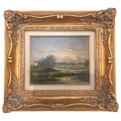 Oil on Canvas Landscape Painting Signed by Artist
