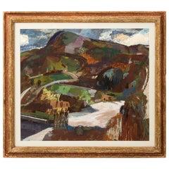 Oil on Canvas Landscape Scene by Morris Shulman, circa 1958