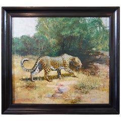 Oil on Canvas Leopard