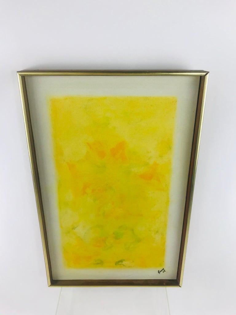 Mid-Century Modern Oil on Canvas Listed Artist Sheila Isham