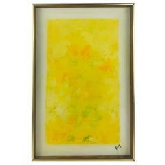 "Oil on Canvas Listed Artist Sheila Isham ""Abstract Yellows"""