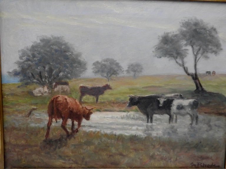 Oil on Canvas of a Country Landscape by Rhede For Sale 3