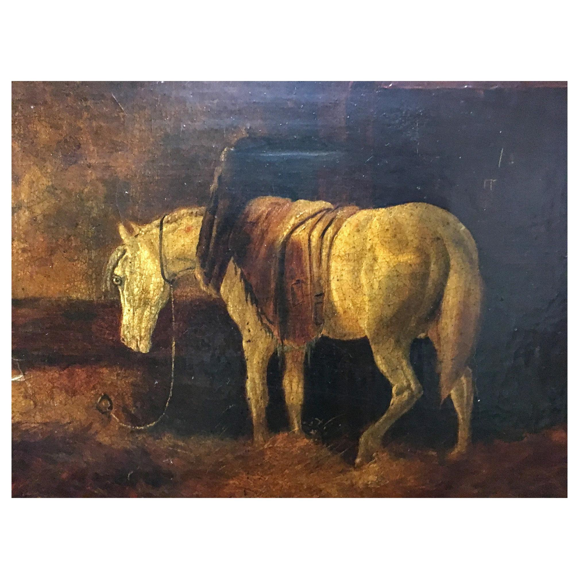 Oil on Canvas of a Horse, Signed