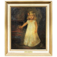 Oil on Canvas of a Young Girl