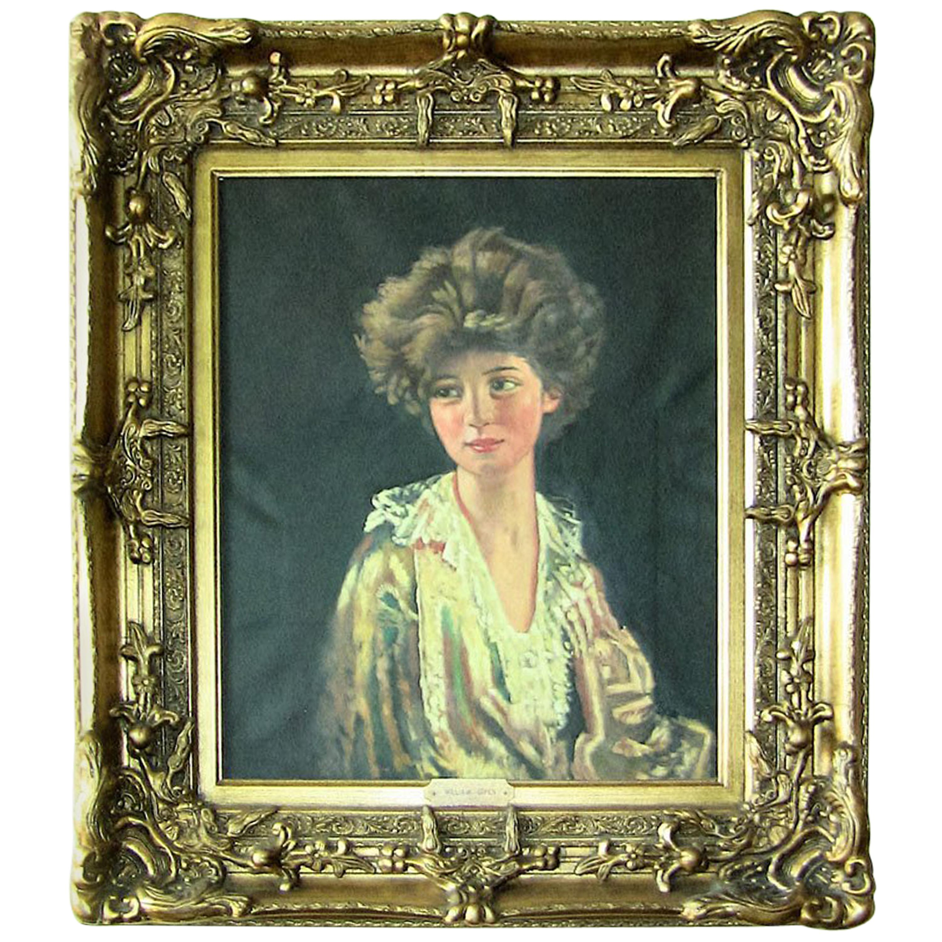 Oil on Canvas of Lady Evelyn Herbert after Sir William Orpen