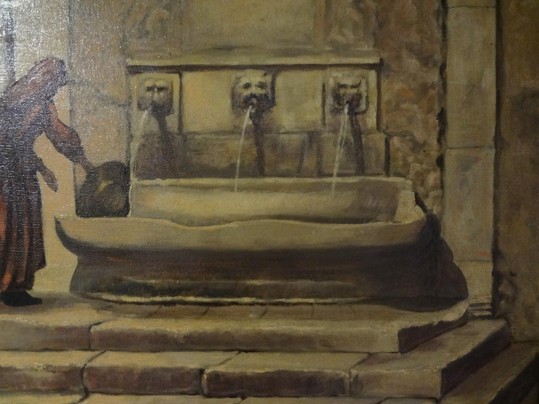 Grand Tour Oil on Canvas, Orientalist Scene, Signed Louis Saphier, circa 1920 For Sale