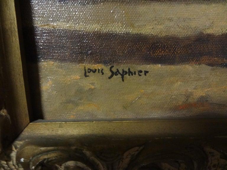 Oil on Canvas, Orientalist Scene, Signed Louis Saphier, circa 1920 For Sale 1