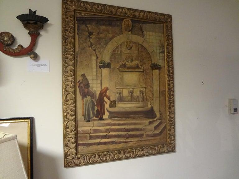 Oil on Canvas, Orientalist Scene, Signed Louis Saphier, circa 1920 For Sale 3