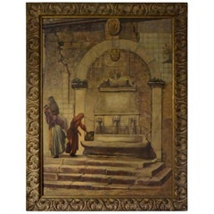 Oil on Canvas, Orientalist Scene, Signed Louis Saphier, circa 1920