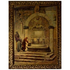 Oil on Canvas, Orientalist Scene, Signed Louis Saphier, circa 1920