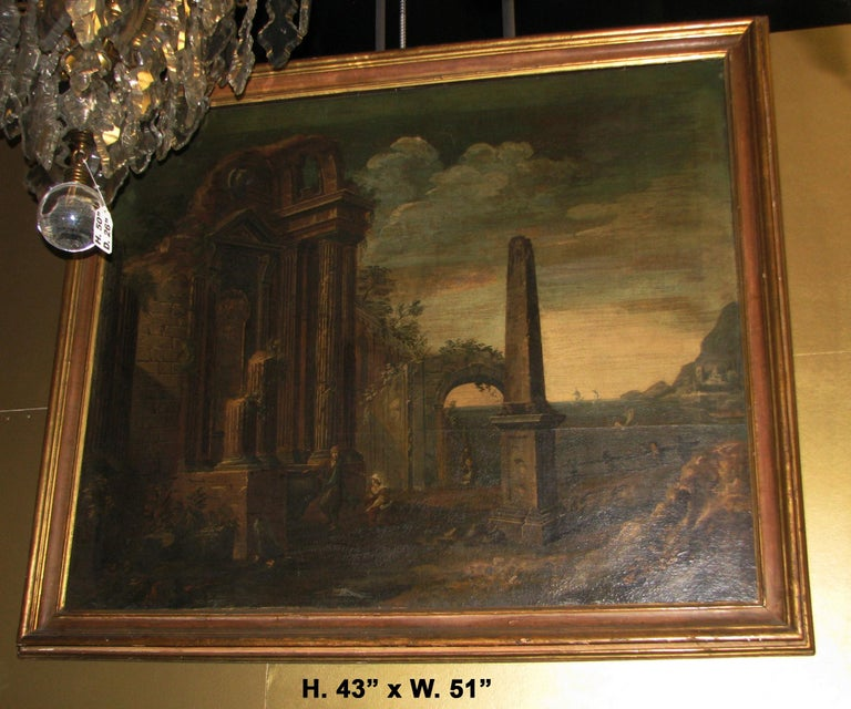 Oiled Oil on Canvas Painting, 18th Century For Sale