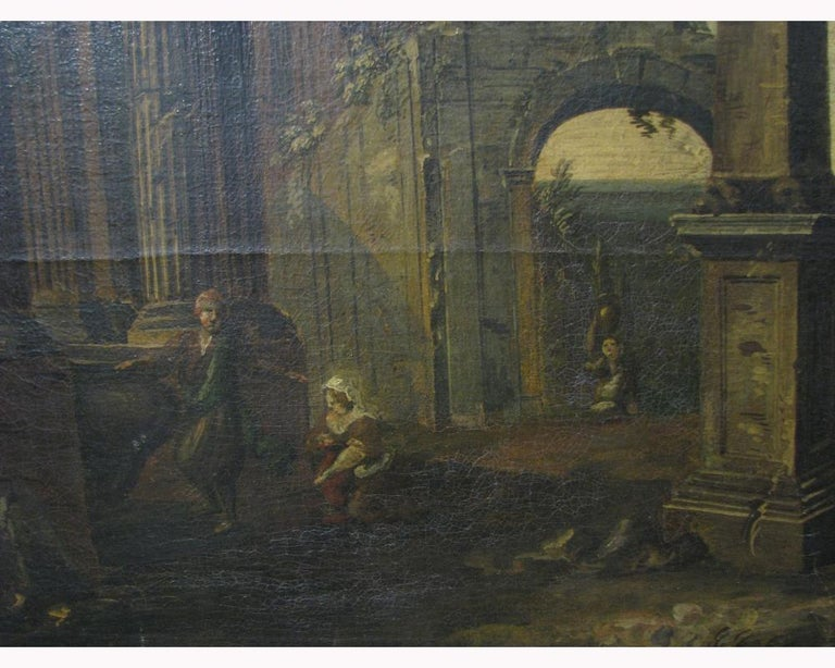 Oil on Canvas Painting, 18th Century In Good Condition For Sale In Cypress, CA