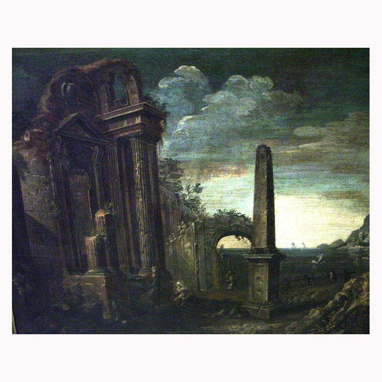 Oil on Canvas Painting, 18th Century For Sale 1