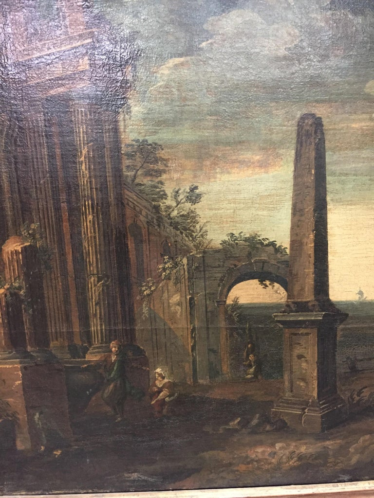 Oil on Canvas Painting, 18th Century For Sale 2
