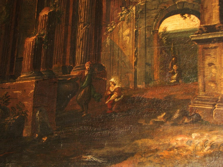 Oil on Canvas Painting, 18th Century For Sale 3