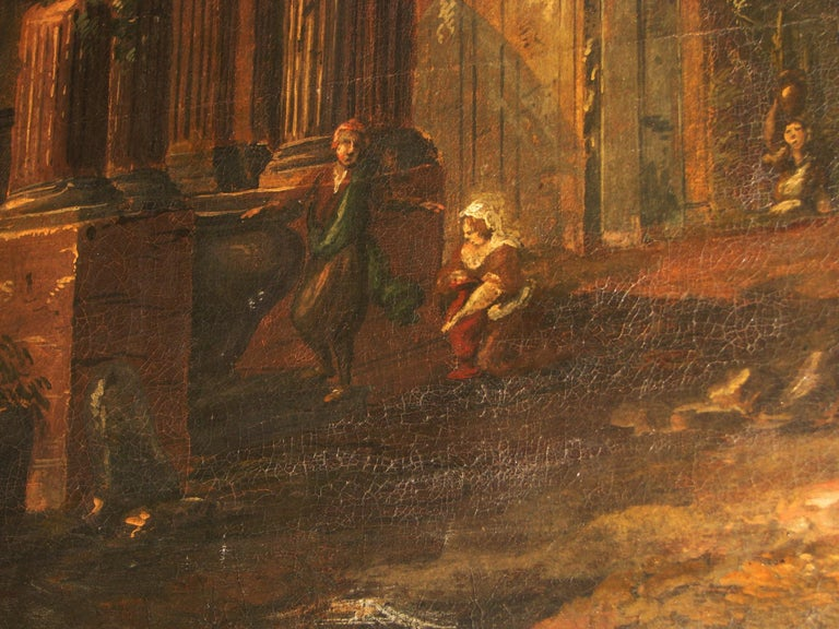 Oil on Canvas Painting, 18th Century For Sale 4