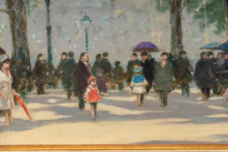 Mid-Century Modern Oil on Canvas Painting