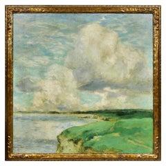Oil on Canvas Painting of Massachusetts Coastline by George Elmer Browne