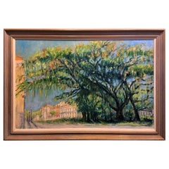 "Oil on Canvas Painting ""St Augustine Southern Oak"", Lawrence Snider, circa 2020"
