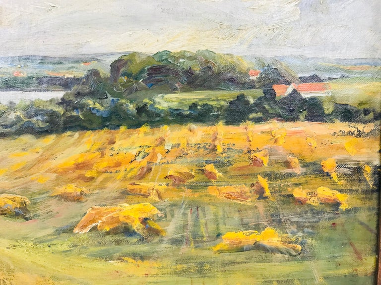 Oil on Canvas Pastoral Scene by Am. Listed Artist Alfred George Pelikan In Good Condition For Sale In Plymouth, MA