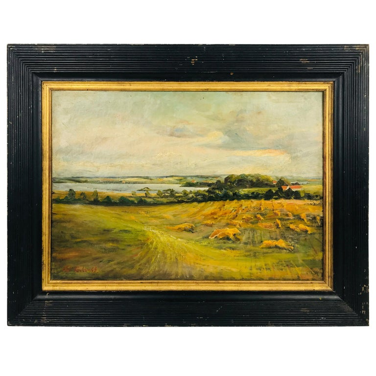 Oil on Canvas Pastoral Scene by Am. Listed Artist Alfred George Pelikan For Sale