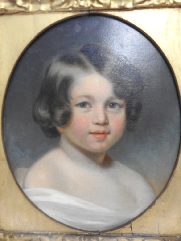 Victorian Oil on Canvas, Portrait of Sewanee Student For Sale