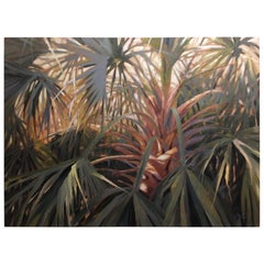 "Oil on Canvas ""Reaching"" Palmettos Scene, Mary Segars"