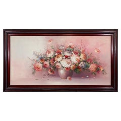 Oil on Canvas Still Life Flowers Painting Signed K.Stone