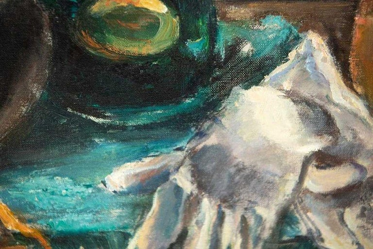Oil-on-Canvas Still Life Painting by Pauline Silver In Good Condition For Sale In Great Barrington, MA