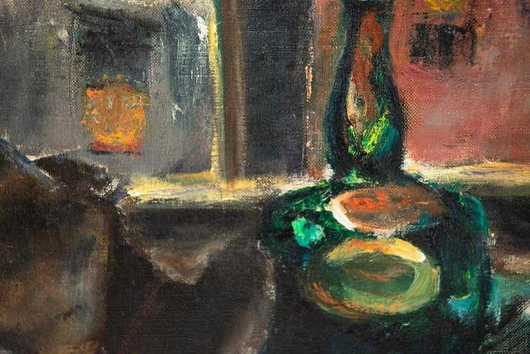 20th Century Oil-on-Canvas Still Life Painting by Pauline Silver For Sale