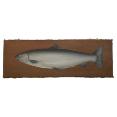 Oil on Canvas Study of a Salmon