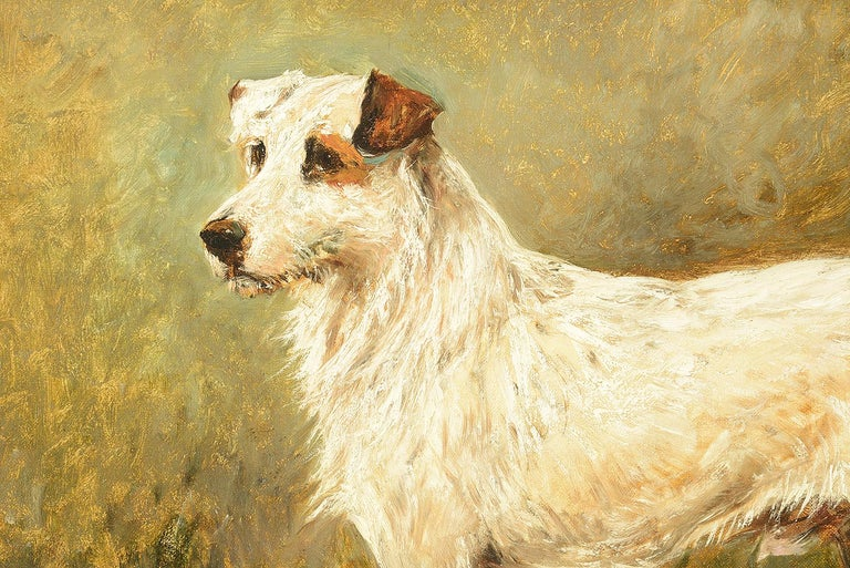 Oil on canvas painting of 'Tiger the Terrier' 